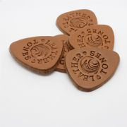 Leather Tones Tin of 4 Leather Ukulele Picks | Timber Tones